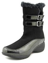 Khombu Spice Women Round Toe Synthetic Black Winter Boot.