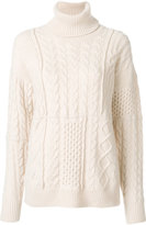 Roberto Collina cable knit roll neck jumper