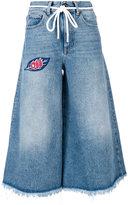 Off-White Capri jeans - women - Cotton/Polyester/glass - 27