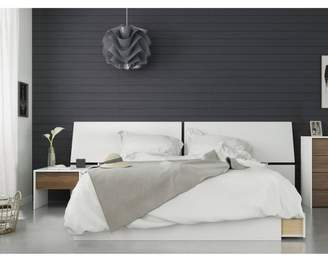 Modus Designs Nexera 3pc Queen Bedroom Set Walnut/White