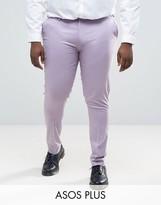 Asos Plus Super Skinny Smart Pants In Light Purple