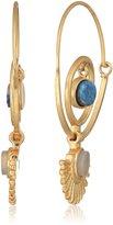 Danielle Nicole Keyon Gold Hoop Earrings