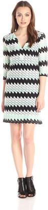 Karen Kane Women's Crochet Knit Shift Dress