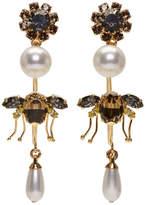 Erdem - Boucles d'oreilles pendantes à anneaux dorées Bee