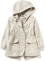 Old Navy Hooded Twill Anorak for Toddler Girls