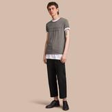 Burberry Contrast Motif Cotton Blend T-shirt