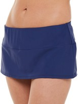 Chaps Women's Hip Minimizing Skirted Hipster Swim Bottoms
