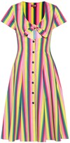 STAUD Alice striped poplin dress