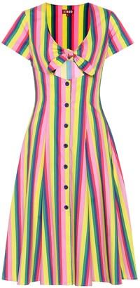 STAUD Alice striped poplin dress