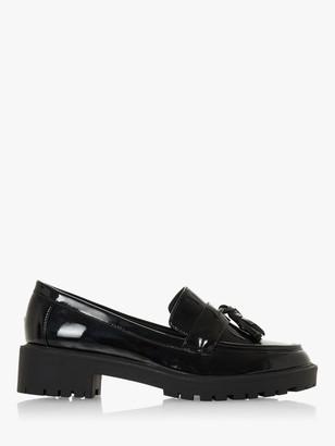 Head Over Heels Gotty Low Block Heel Loafers, Black