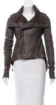 Rick Owens Leather Distressed Jacket