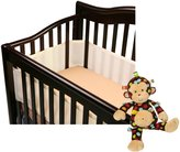BreathableBaby Breathable Crib Bumper with Taggies Toy, Ecru by