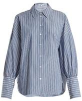 Tibi Garcon striped cotton shirt