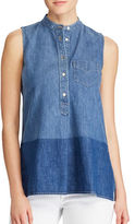 Lauren Ralph Lauren Sleeveless Denim Shirt