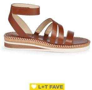Vince Camuto Margreta Leather Ankle-Strap Sandals