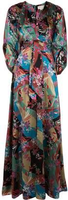 Sachin + Babi Floral Print Gown
