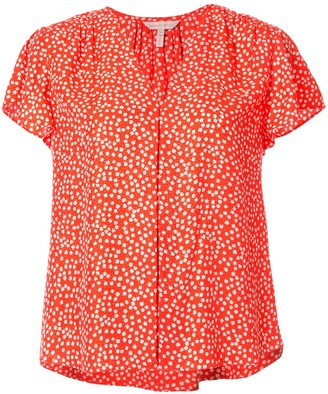 Rebecca Taylor All-Over Print Blouse