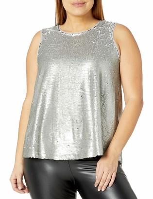 Rachel Roy Women's Plus Size Sequin Top