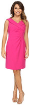 Tahari by Arthur S. Levine Petite Stretch Crepe Portrait Collar Dress