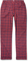 Sleepy Jones - Marcel Checked Washed-cotton Pyjama Trousers