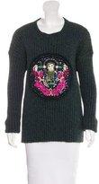 Mary Katrantzou Wool Embellished Sweater