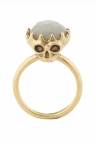 House Of Harlow Stone Top Skull Cocktail Ring in Gold