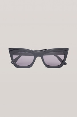 Ganni Biodegradable Rectangular Sunglasses