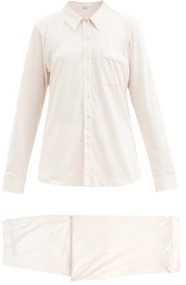 Skin Cecilia Organic Pima-cotton Pyjama Shirt - Light Pink