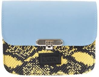 Kartu Studio Natural Leather Cross Body ''Lavender'' Sky Blue/Yellow Snake Print