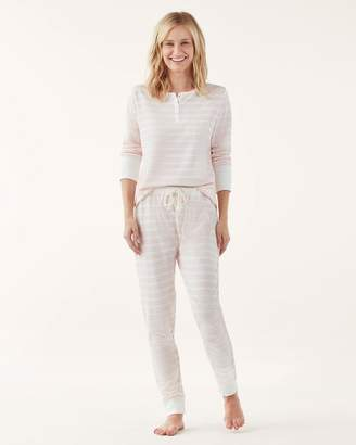 Splendid Henley & Jogger Thermal PJ Set
