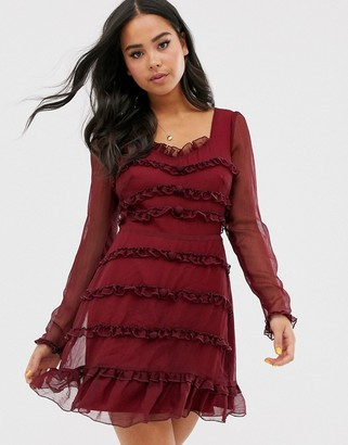 The East Order lucien frill mini dress