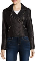 BELLE + SKY Faux-Leather Moto Jacket