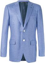 Canali hounstooth pattern blazer - men - Silk/Cupro/Cashmere - 52