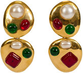 One Kings Lane Vintage Chanel Gripoix Collectible Drop Earrings