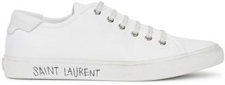 Saint Laurent Malibu white canvas sneakers