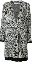 Christian Wijnants patterned cardi-coat