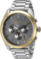 Nixon Women's A3662477-00 Bullet Chrono Analog Display Quartz Silver Watch
