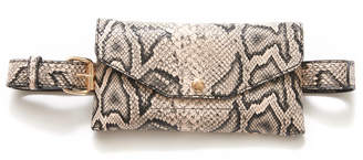 The Casery Snakeskin Convertible Fanny Pack Black Multi 1 Size