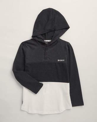 DKNY Boys 8-20) Long Sleeve Hooded Henley