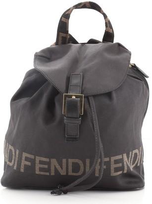 Fendi Vintage Logo Drawstring Backpack Nylon Medium