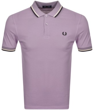 Fred Perry Twin Tipped Polo T Shirt Lilac