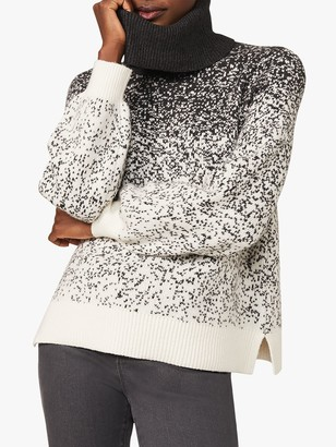 Phase Eight Aveline Ombre Jumper, Charcoal/Ivory