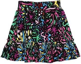 Stella McCartney Kids Fireworks Print Viscose Skirt