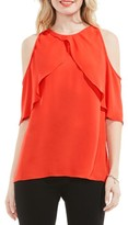 Vince Camuto Women's Ruffle Cold Shoulder Blouse
