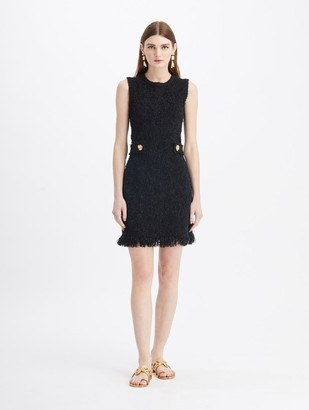 Oscar de la Renta Sleeveless Mini Knit Dress