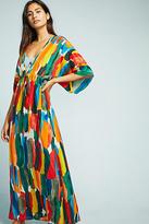De La Mer Watercolor Silk Caftan