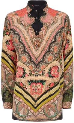 Etro Silk Floral Arnica Paisley Shirt