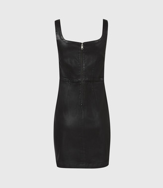 AllSaints Steph Coated Denim Dress