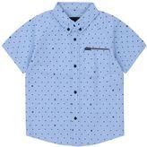 Hurley Toddler Boy Raglan Polka-Dot Button-Down Shirt