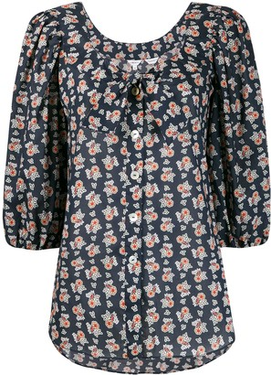 Liberty London floral-print 3/4 sleeves blouse